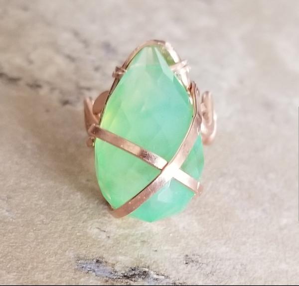 Hawaiian Green Quartz Ring
