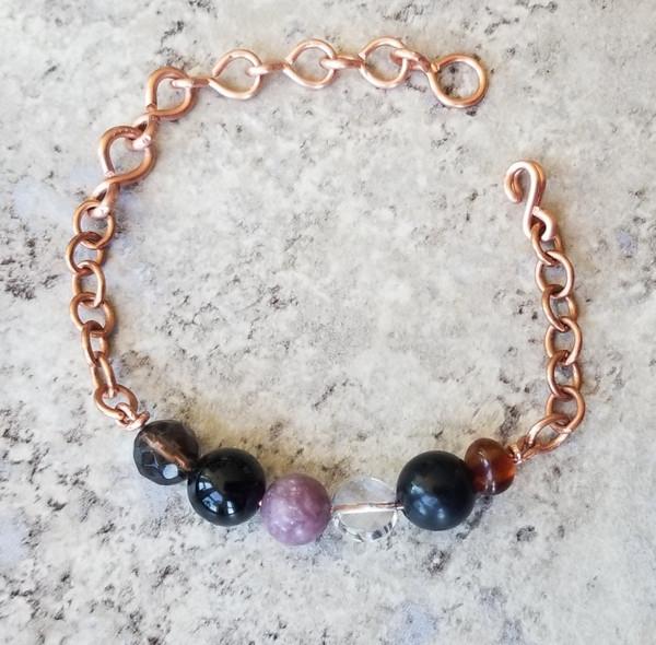 Crystal EMF Protection Bracelet: Stlye 2