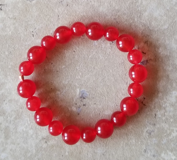 Red Quartz Yoga Bracelet