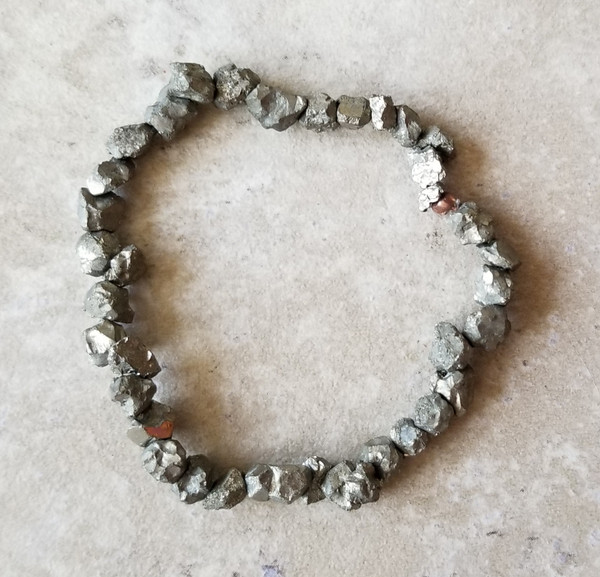Pyrite Yoga Bracelet: Raw