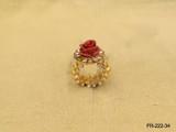 ANTIQUE HOLD ROSE DESIGNED FINGER RING