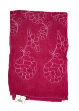 Magenta Color Cotton Designer Scarf/Hijab