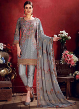 Pakistani Georgette Thread Work Suit
