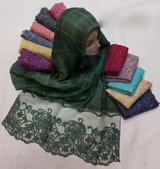 Hosiery Cotton Designer Hijab/Scarf