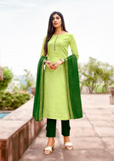 Viscose Designer Fancy Salwar Kameez Green