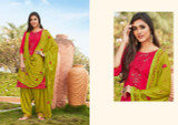 Cotton Silk Patiyala Suits Rani