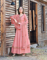 Designer Dole Silk Embroidery Anarkali Suit