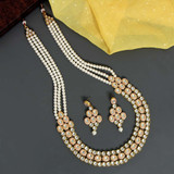 White Color Kundan Necklace Set