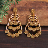 Gold Color Kundan Earrings