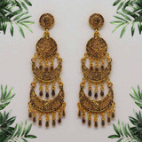 Gold Color Oxidised Earrings