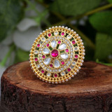 Rani Color Kundan Ring