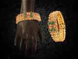 Anarkali Bangles Ruby Green