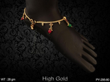Antique Ruby Green Anklets (1 Pair)