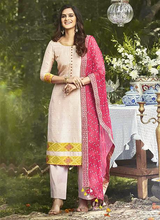 Light Pink Hand Work Fancy Straight Suit