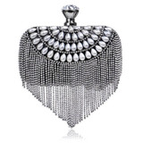 Tassel Rhinestones Beading Small Clutch Purse
