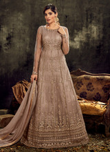 Mauve Gorgeous Butterfly Net Anarkali Suit