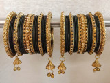 Black Bangles Jhumki And Jhumar Style
