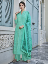 Embroidery New Designer Palazzo Suit Paste