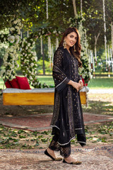 Pakistani Black Chiffon Heavy Work Salwar Suit