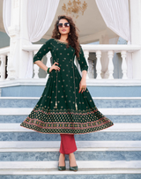 New Gown Style Printed Kurti (Kurti Only)
