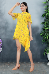 Party Wear New Western Top Yellow