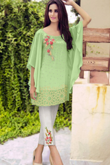 Designer Western Style Top With Bottom Green