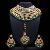 Kundan Necklace Set With Earring & Maang Tikka
