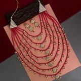 Beautiful Seven Layer Kundan Necklace Set