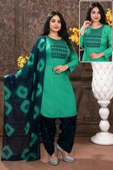 Gorgeous Embroidery Work Readymade Patiyala Suit