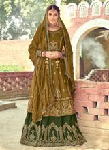 Georgette Embroidery Designer Gharara Suit