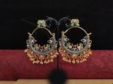Beautiful Design Meenakari Earrings Blue