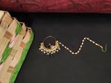 Beautiful High Gold Polish Designer Nath Green
