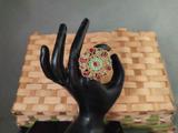Beautiful Flower Design Antique Finger Ring