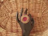 Designer Antique Meena Ring