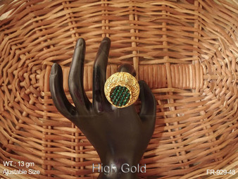 CRYSTAL MOTI  ANTIQUE FINGER RING