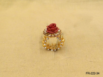 ANTIQUE HOLD ROSE DESIGNED FINGER RING