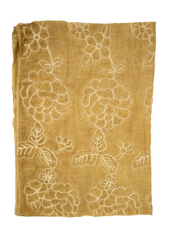 Yellow Cotton Designer Scarf/Hijab