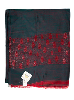 Green-Red Designer Scarf/Hijab