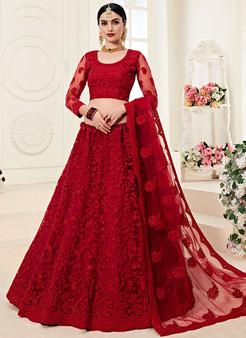 Gorgeous Red Heavy Wedding Lehenga