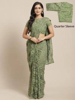 Net Lycra Embellished Designer Saree
