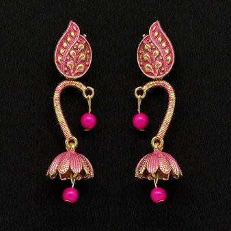 Rani Color Beads Oxidised Earrings