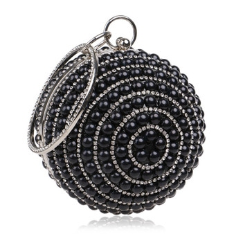 Party Clutch With Beaded Diamond Evening Bag