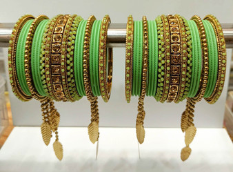 Parrot Green Bridal Jhumar Gorgeous Bridal Bangle