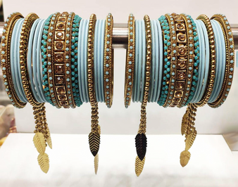 Sky Blue Bridal Jhumar Gorgeous Bridal Bangle
