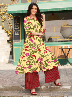 Beautiful Embroidery Work Long Kurti