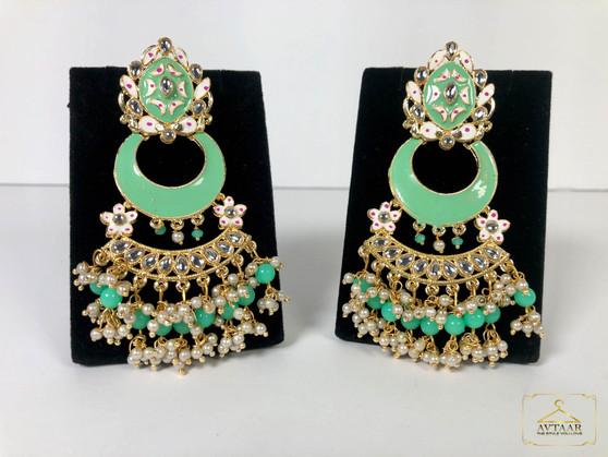 Rani Meenakari Earrings
