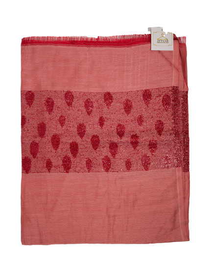 Red color Soft Designer Scarf/Hijab