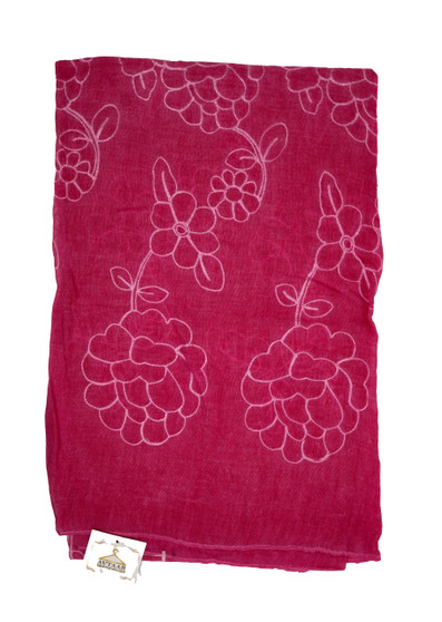 Magenta Color Cotton Designer Scarf/Hijab