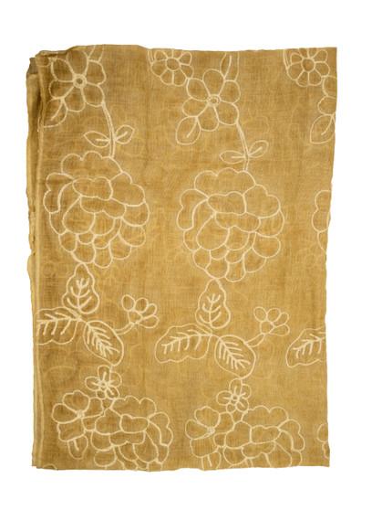 Yellow Cotton Designer Scarf/Hijab