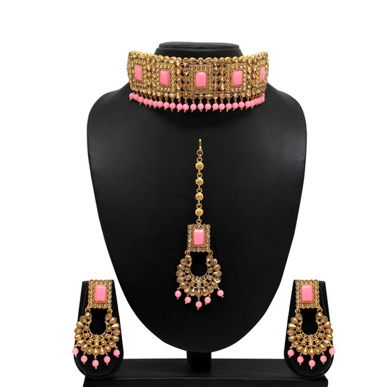 Kundan Polki Choker Necklace Set